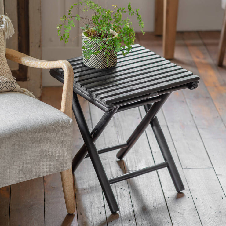Black Mandisa Bamboo Side Table