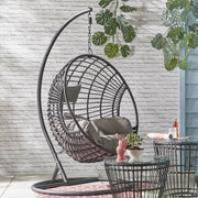 Indoor Outdoor Hanging Egg Chair / Black