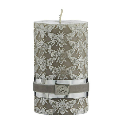 Etched Bee Candle