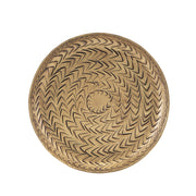 Brass Rattan Candle Tray