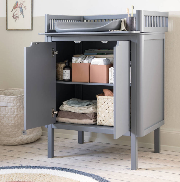 Charcoal Grey Beech Wood Changing Unit