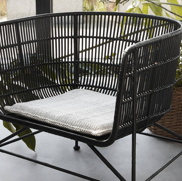 Black Rattan Accent Chair