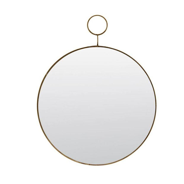 Round Loop Brass Mirror