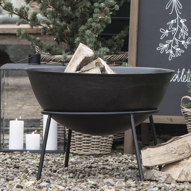 Deep Bowl Fire Pit On Stand
