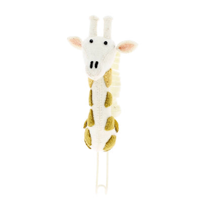 Cream Giraffe Felt Wall Hook