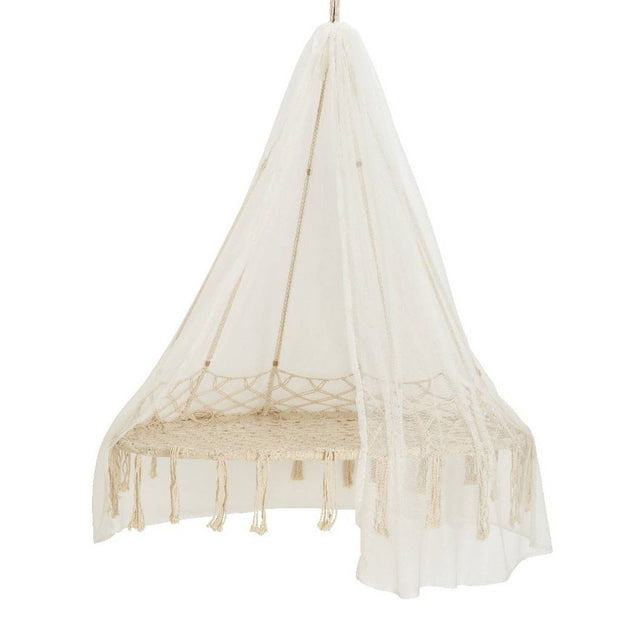 Macrame Hanging Chair With Canopy