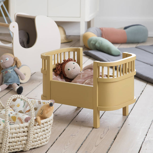 Honey Mustard Dolls Cot Bed