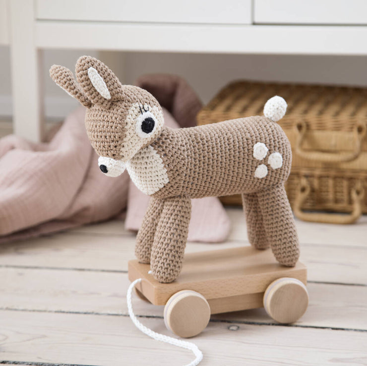 Crochet Deer Pull Along Toy