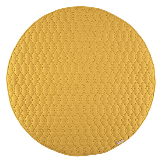 Farniente Yellow Kiowa Floor Mat - By Nobodinoz
