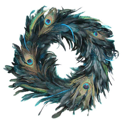Peacock Feather Christmas Wreath