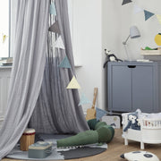 Grey Organic Cotton Canopy