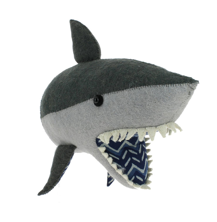 Felt Shark Wall Head
