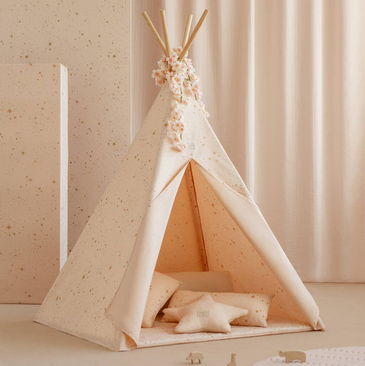 Gold Stella and White  Phoenix Teepee by Nobodinoz