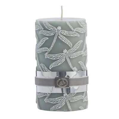 Etched Dragonfly Candle