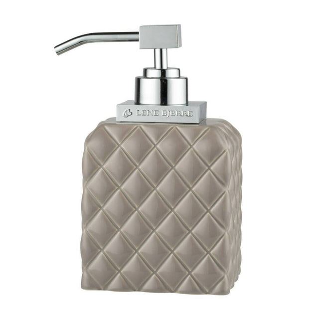 Harlequin Taupe Ceramic Soap Dispenser