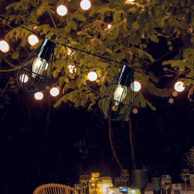 LED Solar Cage Festoon Light Chain