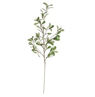 Frosted Faux Mistletoe Stem