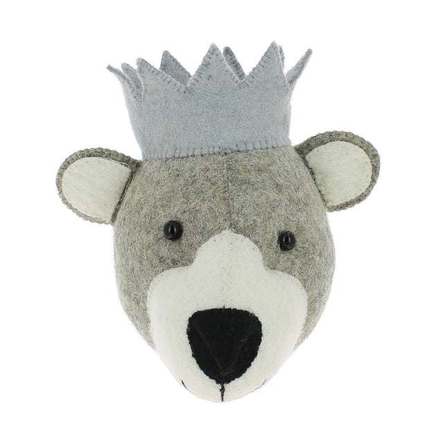 Mini Party Bear Felt Wall Head