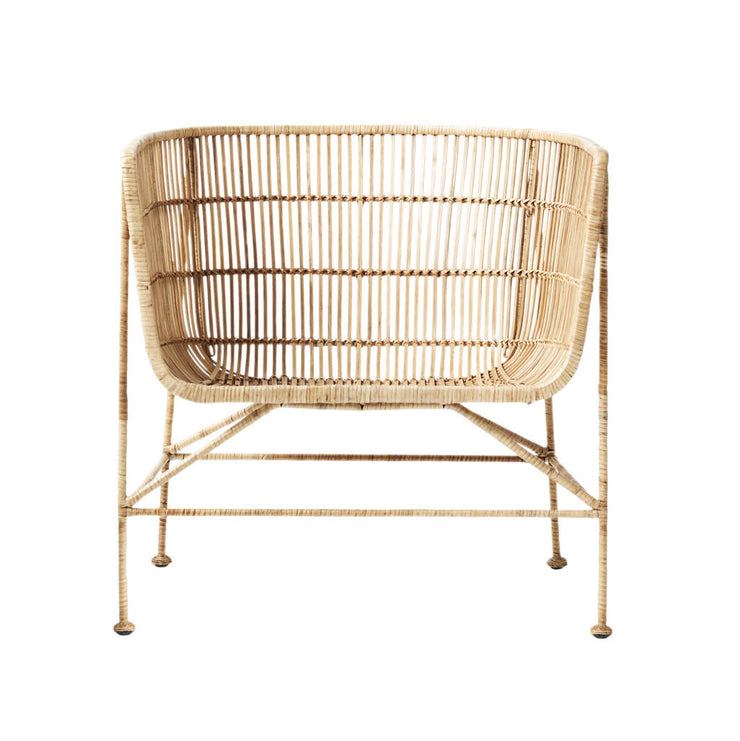 Natural Rattan Accent Chair
