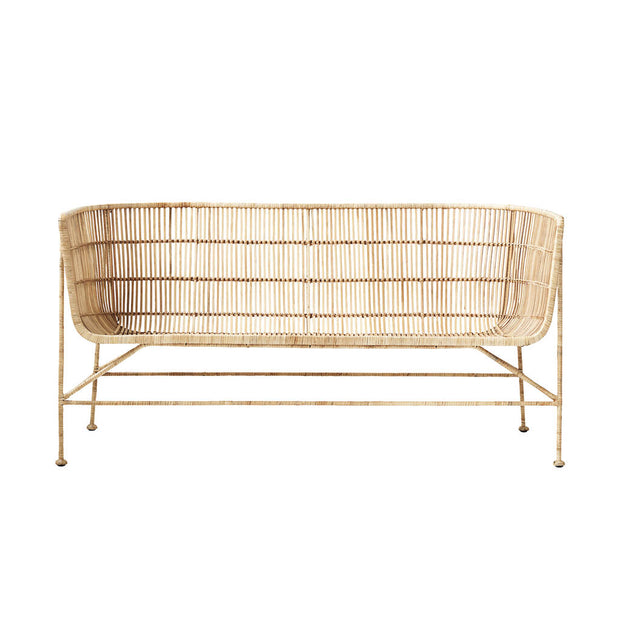 Natural Rattan Contemporary Sofa