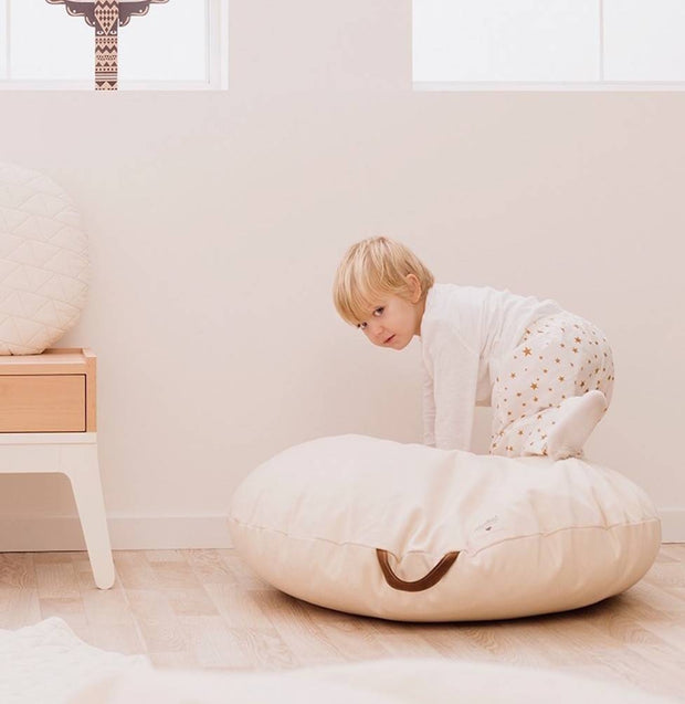 Sahara Beanbag White Natural - By Nobodinoz