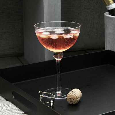 Etched Glass Cocktail Coupe