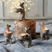 Pair Of Sweet Mice Candle Holders