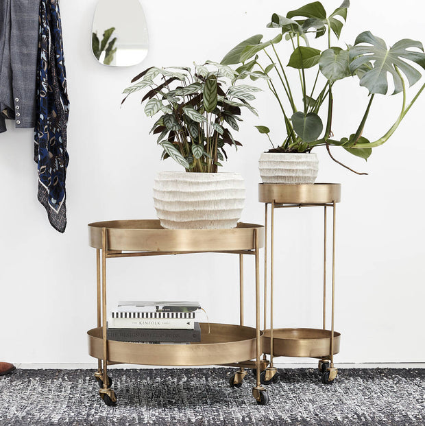 Brushed Gold Bar Carts