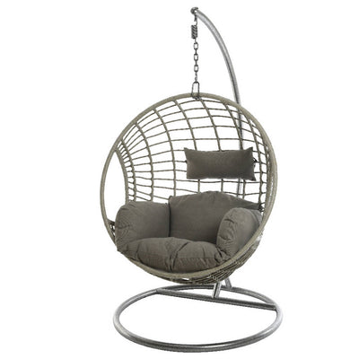 Indoor Outdoor Hanging Egg Chair / Grey