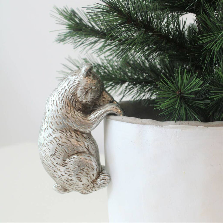 Silver Bear  Pot Hanger