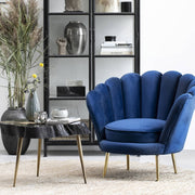Santena Deep Blue Velvet Chair