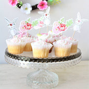 Pack of 12 Floral Rabbit And Flower Cake Toppers