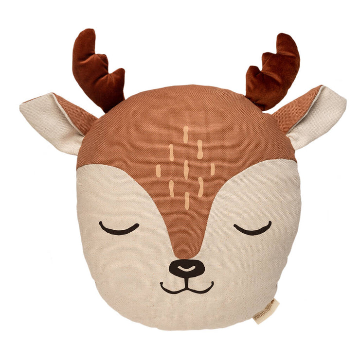 Sweet Deer Animal Cushion - By Nobodinoz