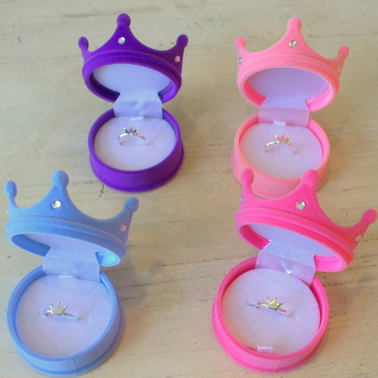 Princess Crown Ring In Crown Gift Box