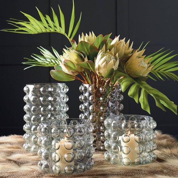 Smoked Grey Lustre Bubble Vase