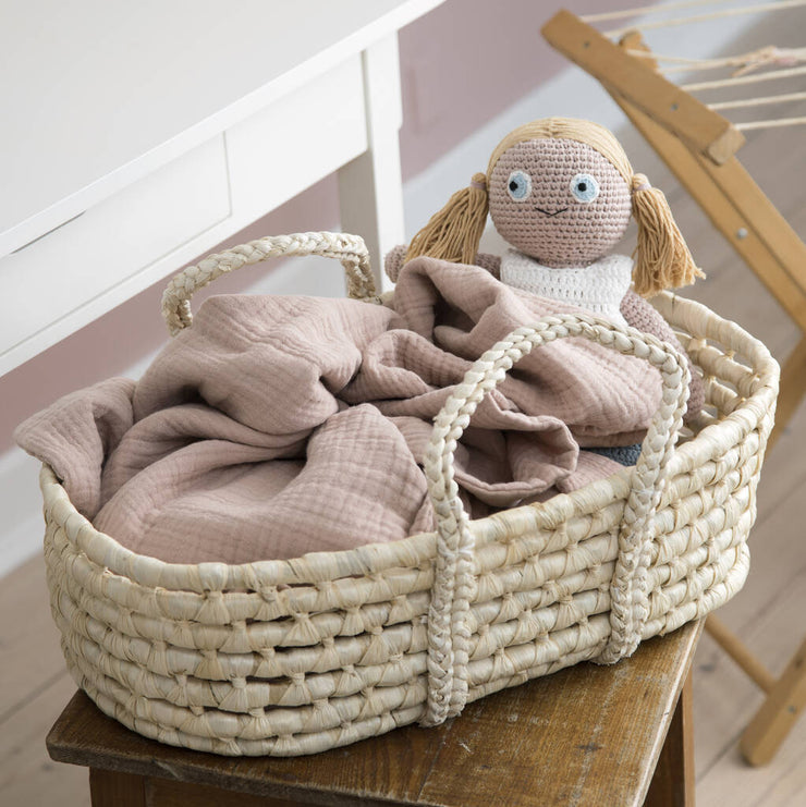 Sunset Pink Dolls Cradle