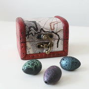 Treasure Chest Gift Set Of Six Dinosaur Hatching Eggs