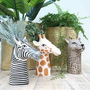 Vibrant Ceramic Animal Head Vases
