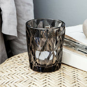 Trio Of Faceted Glass Tealight Holders