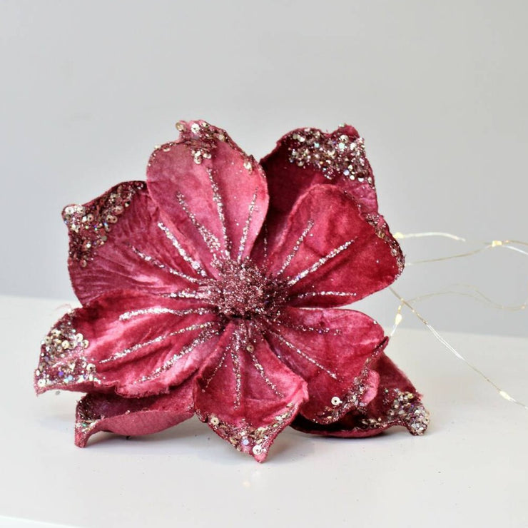 Velvet Anemone Clip on Flower