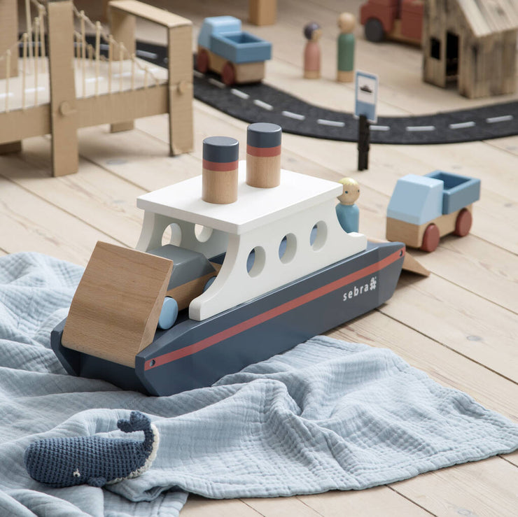 Hand Painted Wooden Ferry Toy