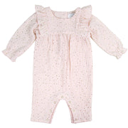 Gold Star Pink Romper Suit