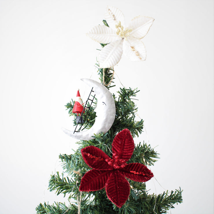 Santa Climbing the Moon Tree Decoration