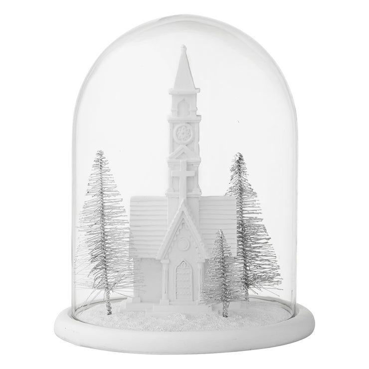 Christmas Scene Bell Jar Decoration