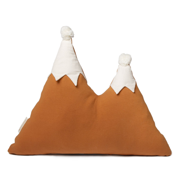 Sunset Orange Snowy Mountain Cushion