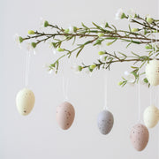 Set Of 12 Mini Speckled Egg Decorations