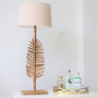 Gold Areca Spikey Lamp with Shade