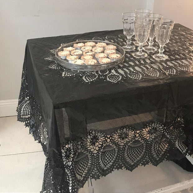Crochet Lace Vinyl Tablecloth