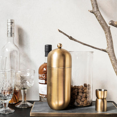Brushed Brass Cocktail Shaker