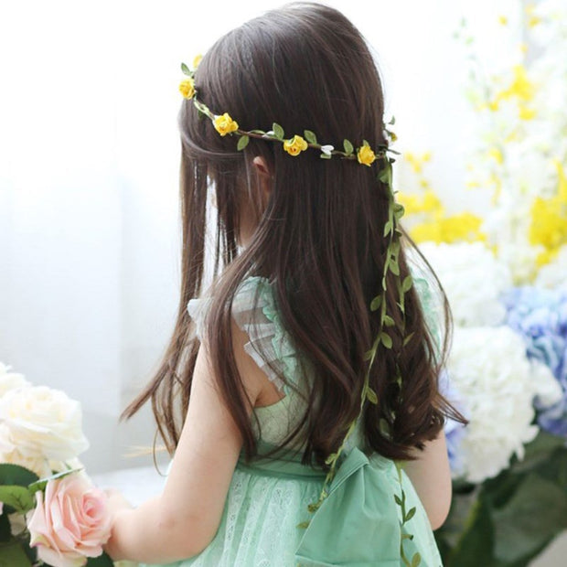 Yellow Trailing Easter Flower Hairband